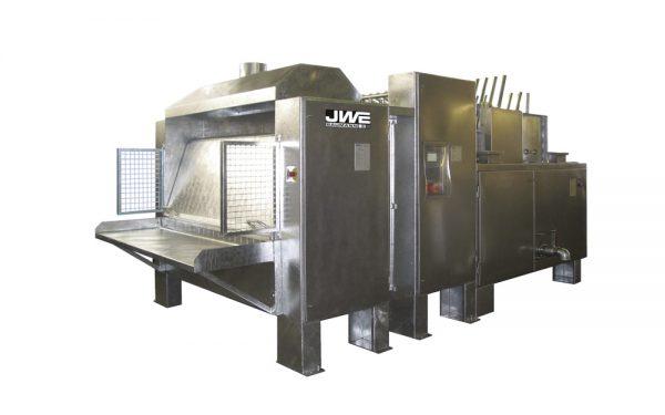 Двухвалковая скребмашинас автоматическим проходным шпарчаном JWE SDM 115-160