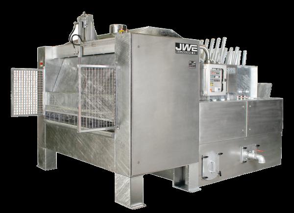 Двухвалковая скребмашинас автоматическим проходным шпарчаном JWE SDM 50-160