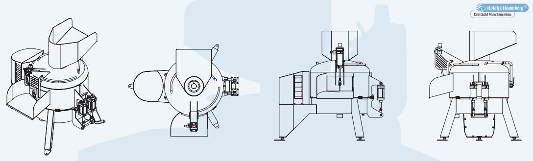 Центрифуга для ошпарки и обезволашивания путового сустава PWM PRM FEM1